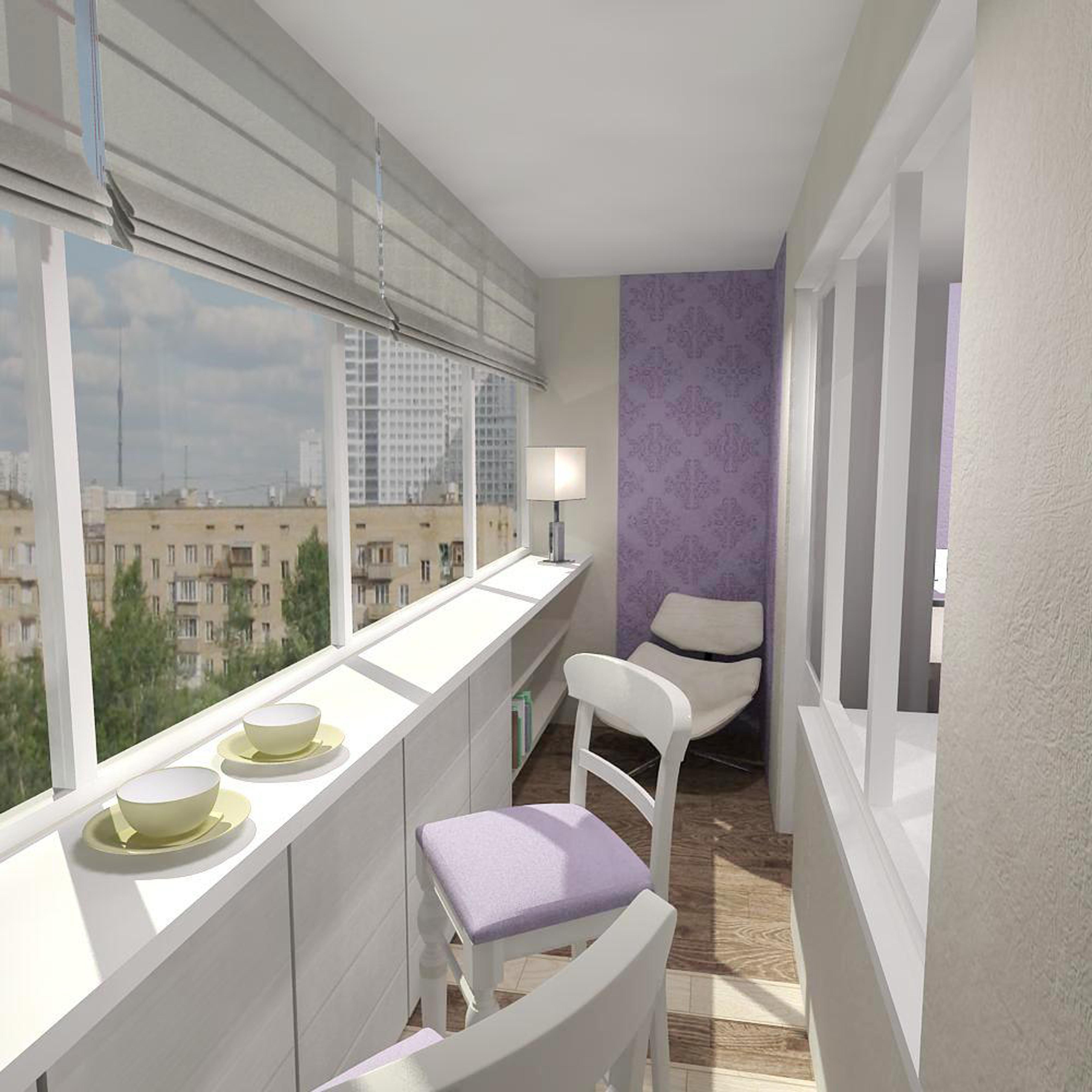Балконы 6 метров отделка интересные идеи фото..